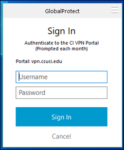 Enter you myCI Dolphin Name in the Username Field.  Then Authenticate with Duo.