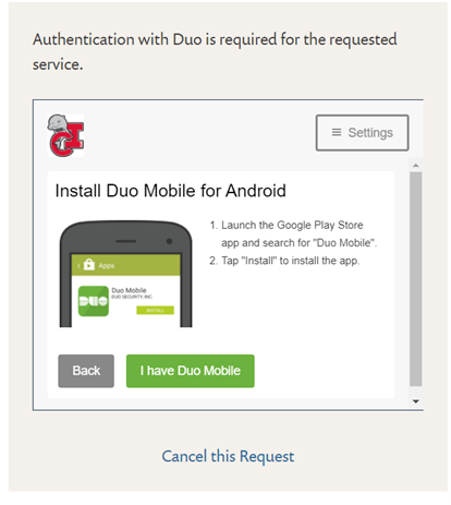 I Have DUO Mobile