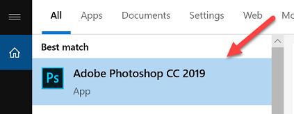 Start Adobe Photoshop