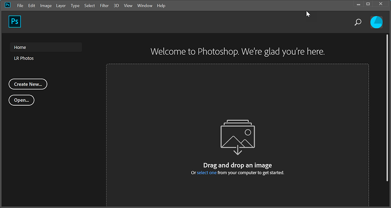 Photoshop is ready for you to use